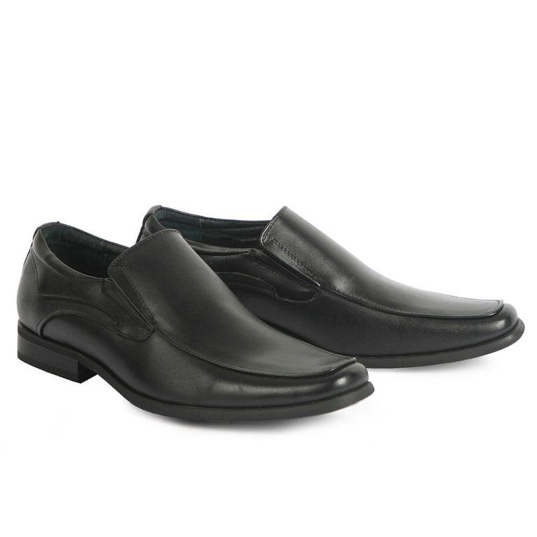 Mario Donati men's dress loafers Black