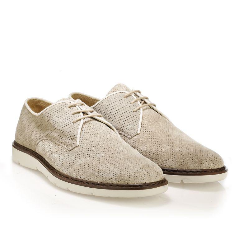 Mario Donati καστόρινα δετά παπούτσια Μπεζ