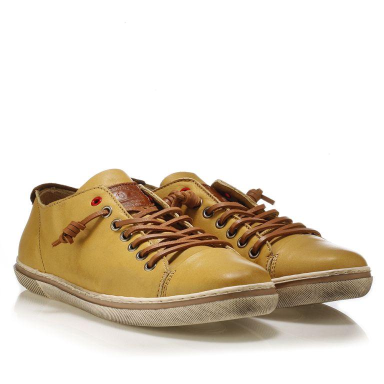 Ανδρικό sneaker Urbanfly Μουσταρδί