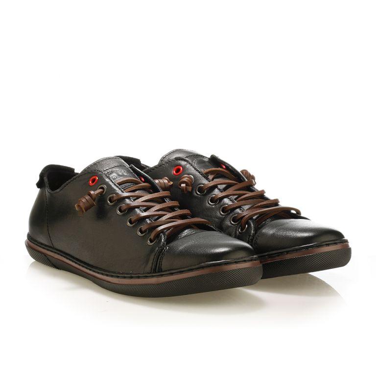 Ανδρικό sneaker Urbanfly black/cognac
