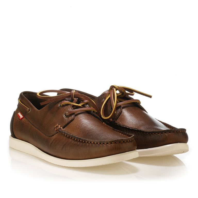 Urbanfly leather boat shoes Brown