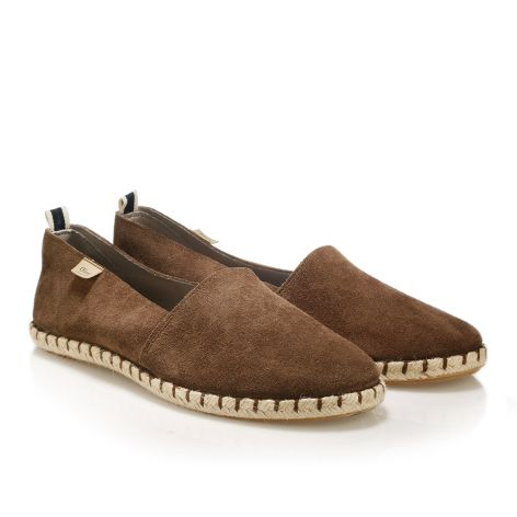 Mens leather espadrilles  Brown