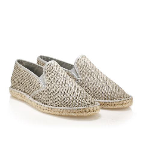 Leather wooven espadrilles  Grey