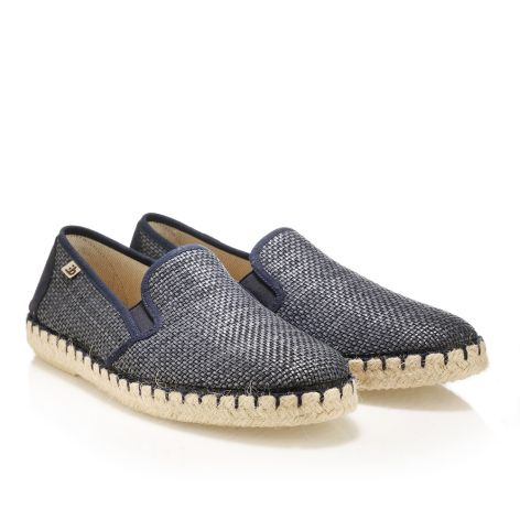 Leather wooven espadrilles  Blue