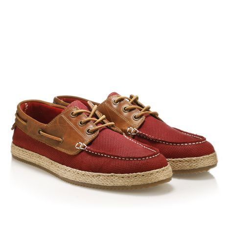 Mens' leather boat shoes  Bordeaux