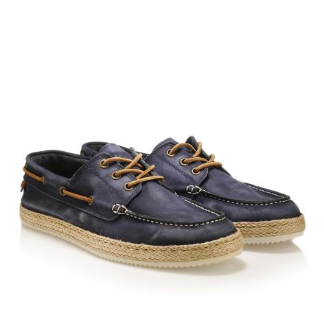 Mens' leather boat shoes Blue