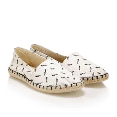 Womens' fabric espadrilles white