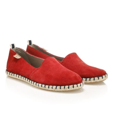 Womens' leather espadrilles  Red