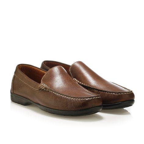 Mario Donati men's leather moccasins Brown