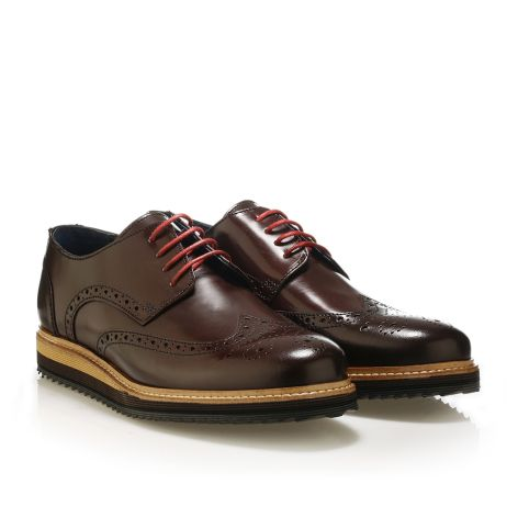 Brogues leather shoes  Bordeaux