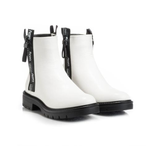 Betsy_white_womens_ankle_boot Λευκό