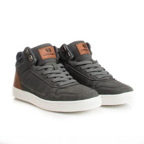Crosby_grey_mens_sneakers Γκρι