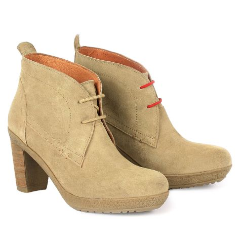 Dazzle learher booties Beige