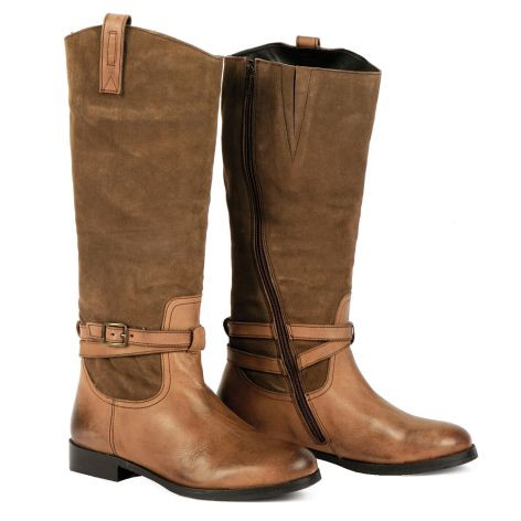 Dazzle riding boots Taupe