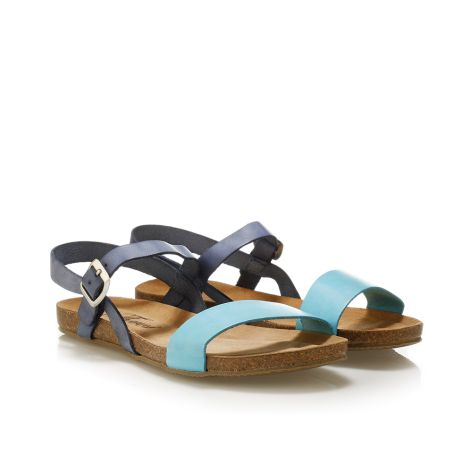Donna Donati women's leather sandals Lt.Blue