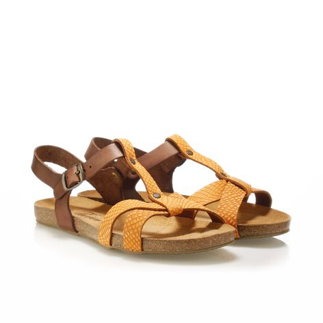Donna Donati women's leather sandals Orange