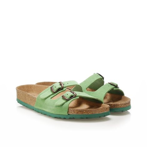 Donna Donati women's leather sandals Green