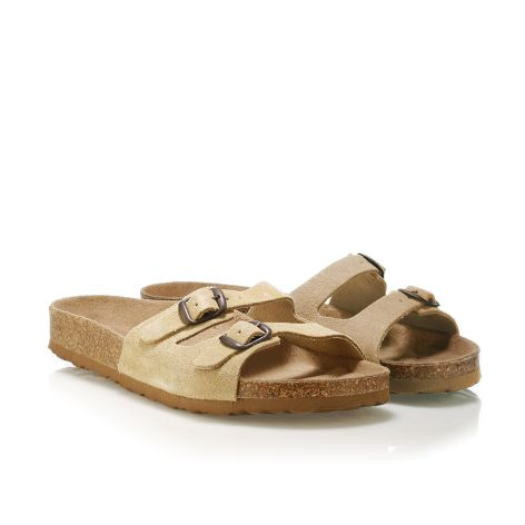 Donna Donati women's leather sandals Beige