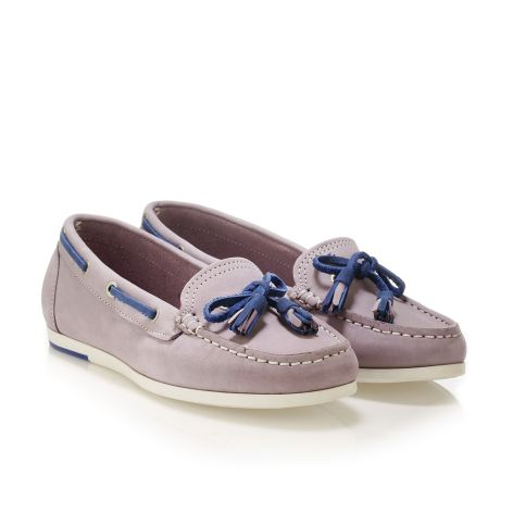 Donna Donati women's leather loafers Lilac