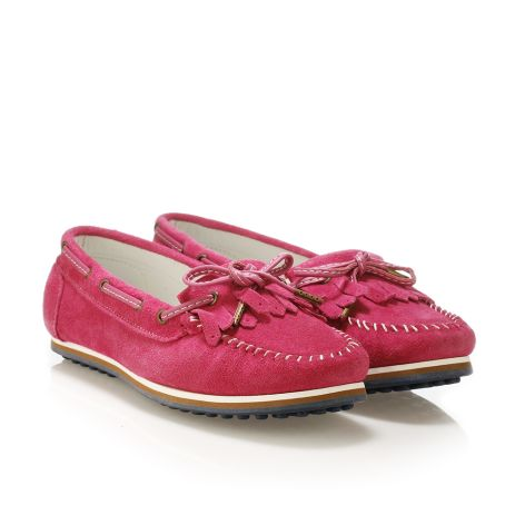 Donna Donati women's leather loafers Pink