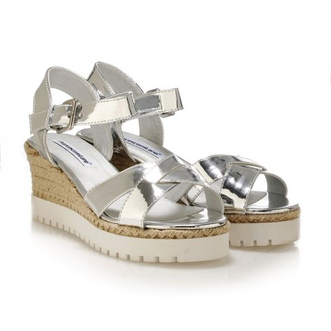FrancescoMilano women's platforms Silver