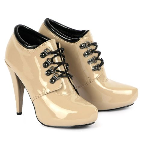 Gloria high heeled bootie  Nude Patent
