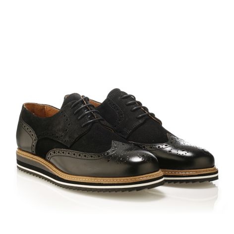 Jack Morgan leather derby shoes in black Black