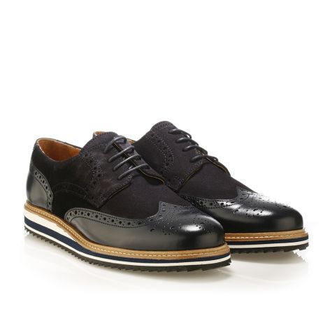 Jack Morgan leather derby shoes in navy Navy