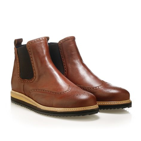 Jack Morgan cognac leather boots Cognac