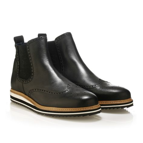 Jack Morgan black leather boots Black