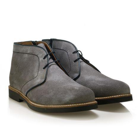 Jack Morgan δερμάτινο παπούτσι σε γκρι Γκρι