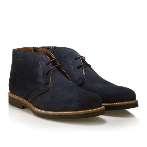 Jack Morgan δερμάτινο παπούτσι σε μπλε  Μπλε