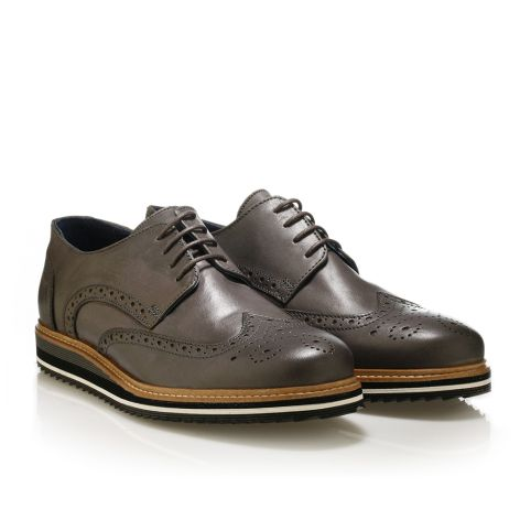 Mens' brogues shoes Jack Morgan   Grey