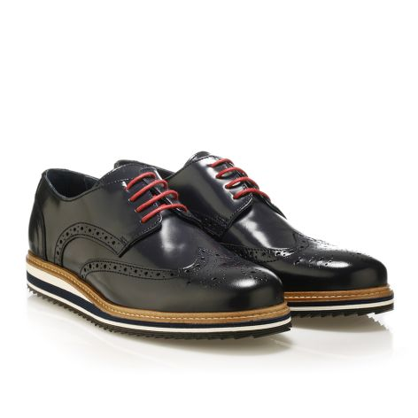 Brogues leather shoes Navy