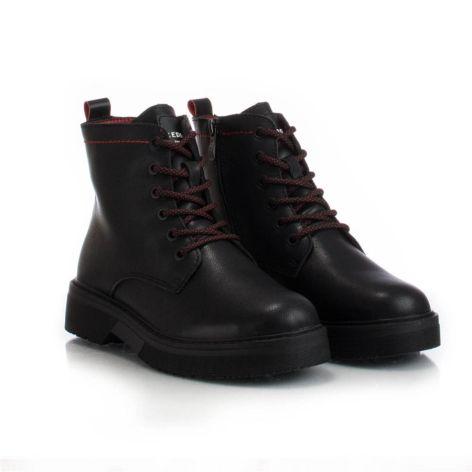 Keddo_black_womens_ankle_boot Μαύρο
