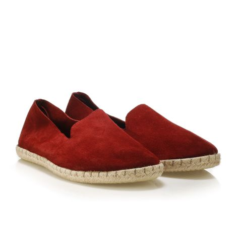 Koyuk leather espadrilles Red