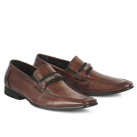 Mario Donati men's dress loafer shoes Brown