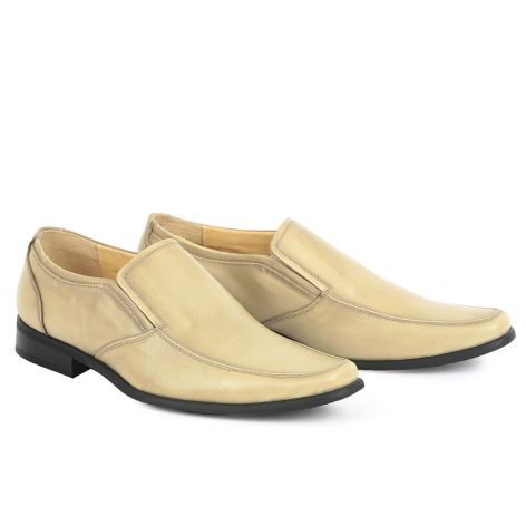 Mario Donati men's dress loafers Beige