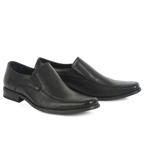 Mario Donati men's dress loafers Black