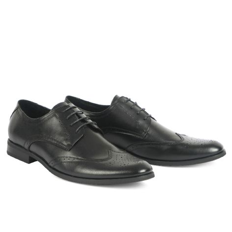 Mario Donati leather brogues Black