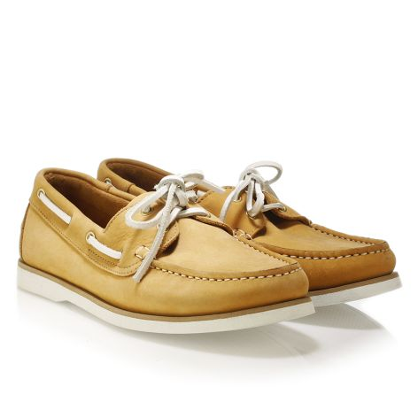 Mario Donati men's leather boat Yellow