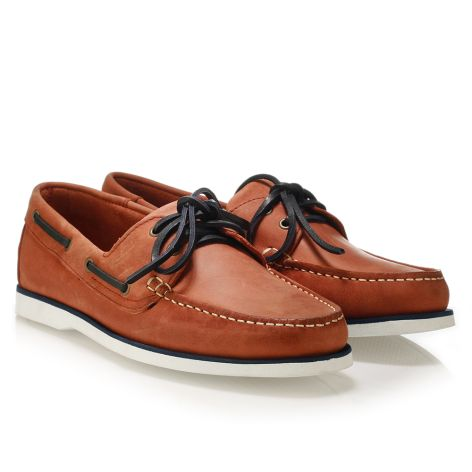 Mario Donati men's leather boat Pomegrenate