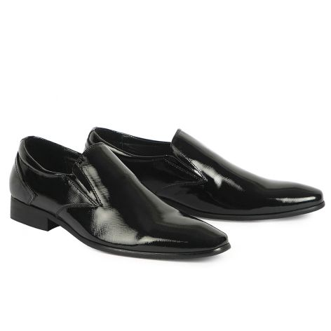 Mario Donati men's dress loafer shoes Black