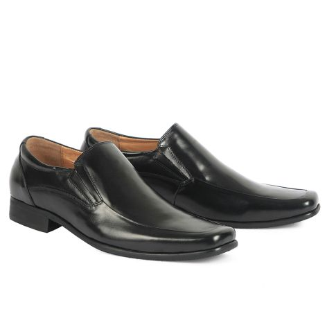 Mario Donati men's loafers  Black