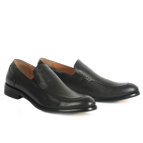 Mario Donati men's loafer dress shoe Black
