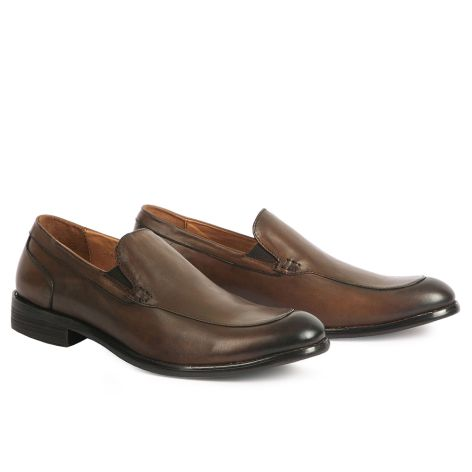 Mario Donati men's loafer dress shoe Brown