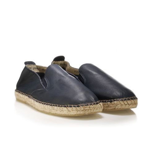 Mario Donati leather espadrilles Navy