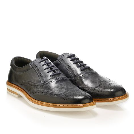 Mario Donati leather derby Navy