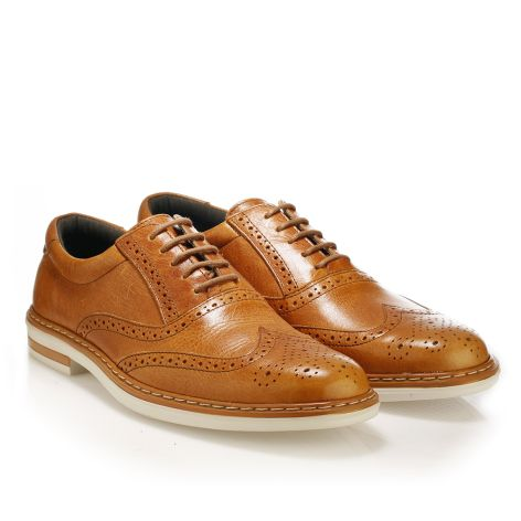 Mario Donati leather derby  Tan