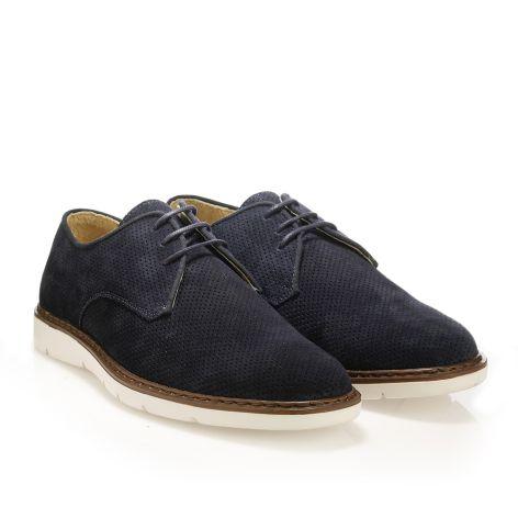 Mario Donati καστόρινα δετά παπούτσια Μπλε